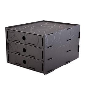 树德(Shuter)U5103 拼装三层文件柜 黑色