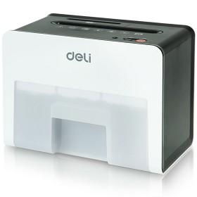 得力(deli)9931 桌面型碎纸机(精致小巧可碎卡S4级保密) 白色