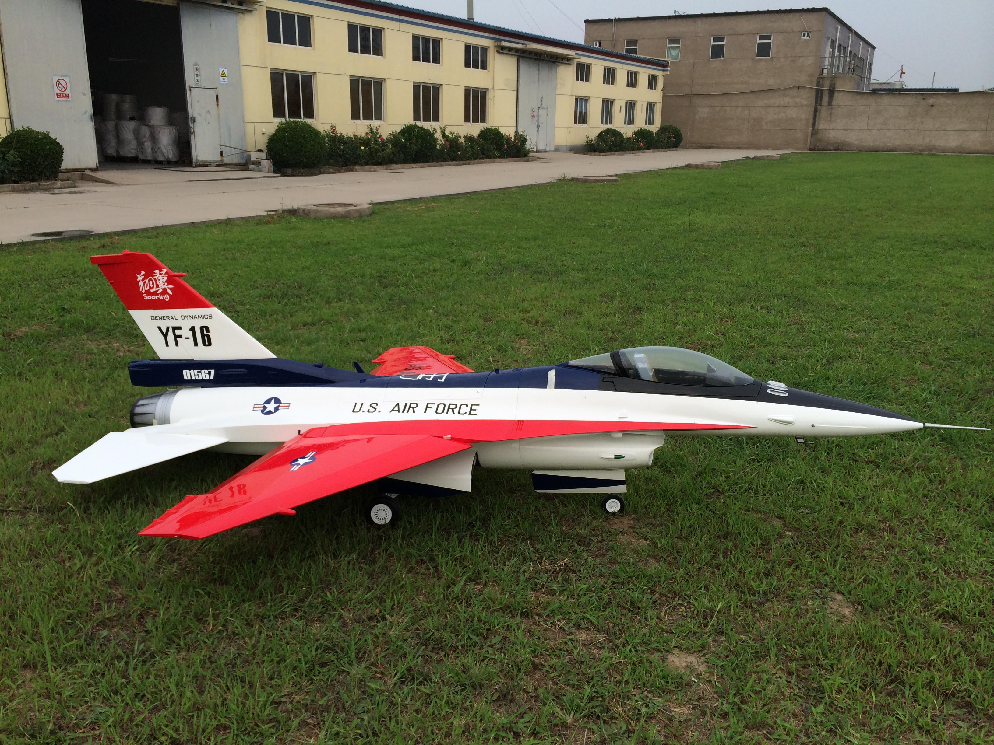 北京翔翼飞鹰3米f16飞机模型