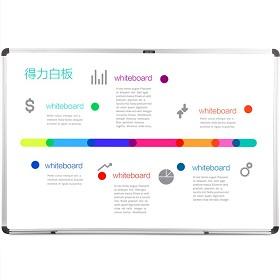 得力(deli) 92608 磁性办公、教学、会议白板(600*900mm)