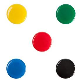 齐心(COMIX)B2383 彩色强力磁粒/白板磁扣 30mm 5个/卡 单个装