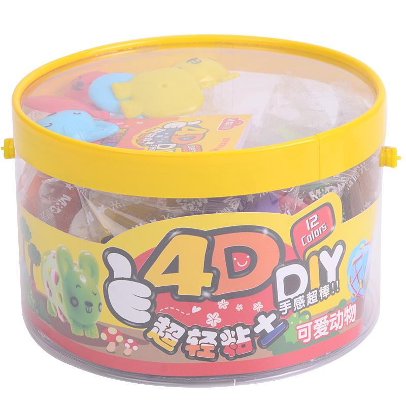 晨光(m&g)ake03903 可爱动物4d超轻粘土 12个装 12色