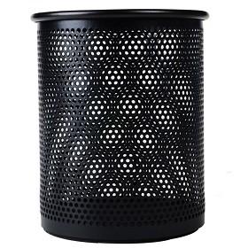晨光(M&G)ABT98403 金属网格笔筒(圆)黑色