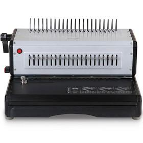 得力(deli)3883 高效省力电动梳式胶圈装订机