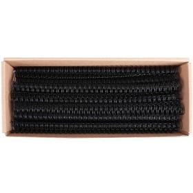得力(deli)2180 装订铁圈34孔双线圈25页装订圈台历圈装订耗材100个 黑色