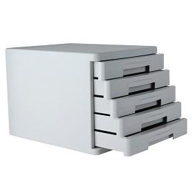 得力(deli)9773 五层硬塑文件柜 灰色