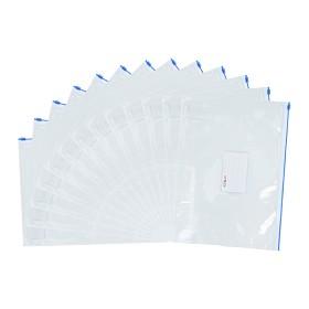 晨光(M&G)ADM94504 A4透明 PVC拉边袋 颜色随机
