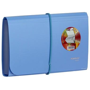 金得利(KINARY)F4403 欢乐色风琴包票据包 蓝色