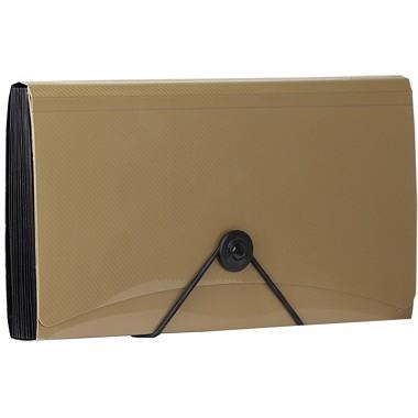金得利(KINARY)SH8403C check绳扣细纹风琴包资料包 金色