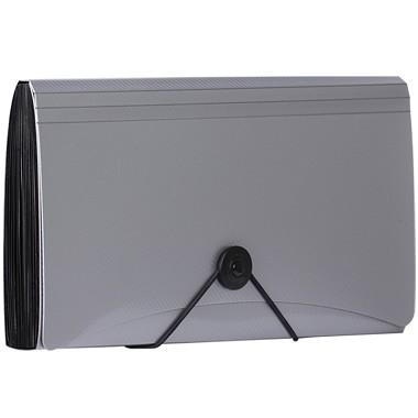 金得利(KINARY)SH8403C check绳扣细纹风琴包票据包 银色