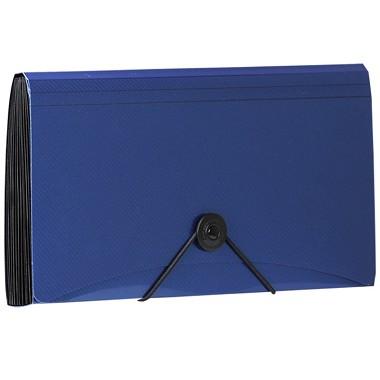 金得利(KINARY)SH8403C check绳扣细纹风琴包文件包 蓝色