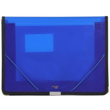 金得利(KINARY)SA602 A4透明收纳空格包公事包 蓝色