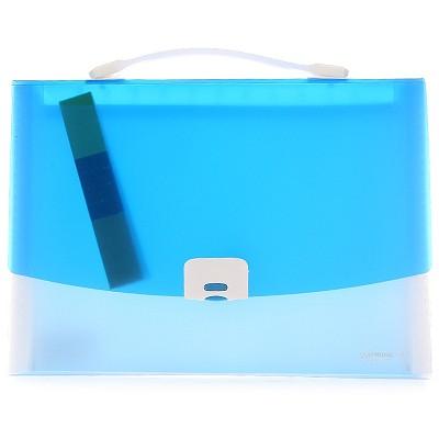 三木(SUNWOOD)F4306 手提式文件包/风琴包 A4/12页 蓝色