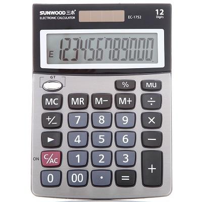三木(SUNWOOD)EC-1752 金属面板计算器
