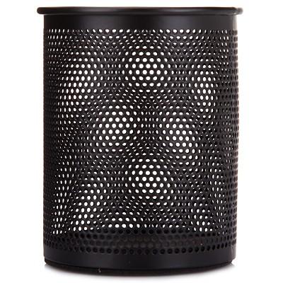 三木(SUNWOOD)1202 金属丝网系列圆形笔筒/收纳筒/多功能笔筒 黑色