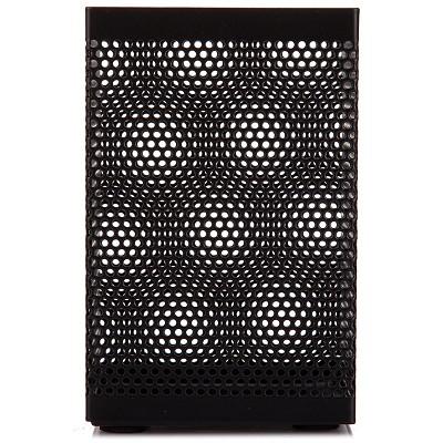 三木(SUNWOOD)1203 金属方形办公笔筒/笔座 黑色