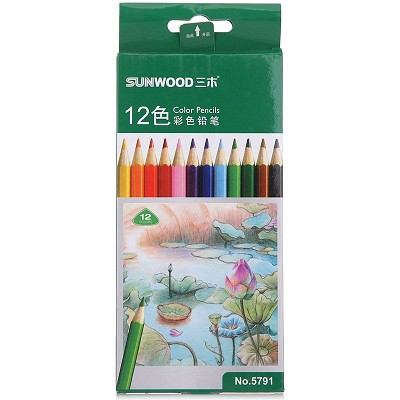 三木(SUNWOOD)5791 12色 彩色铅笔 12支/盒
