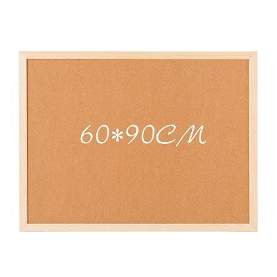齐富(qifu) 白木框软木板 照片墙告示留言板 包布图钉