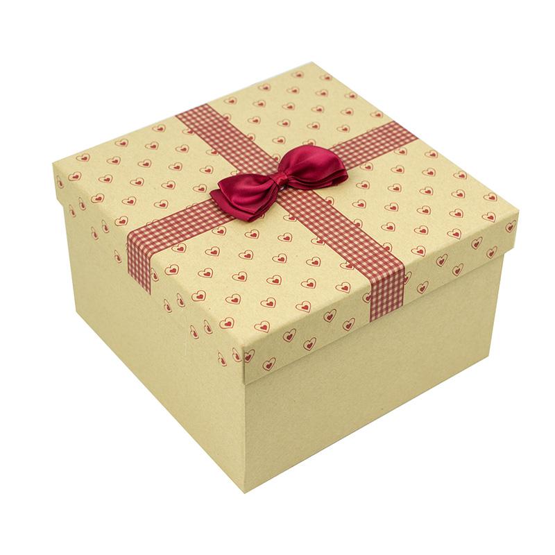 正方形包装礼品包装盒结构展开图