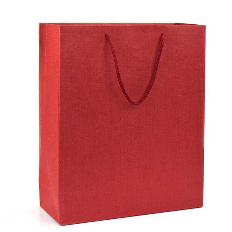 纸袋 商务礼袋珠光纸袋 红色 大号38*27.
