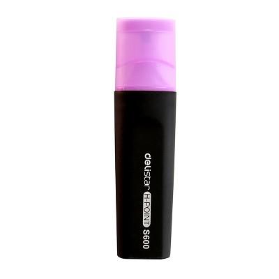 得力(deli) S600 标记醒目荧光笔(紫色) 单支装