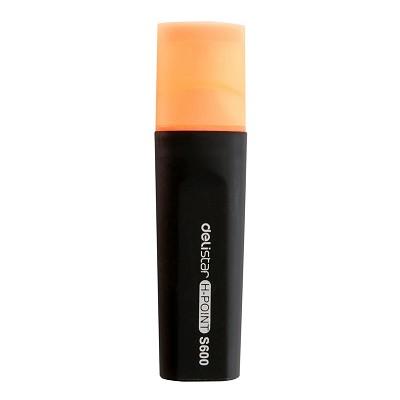 得力(deli)S600 标记醒目荧光笔(橙色) 单支装