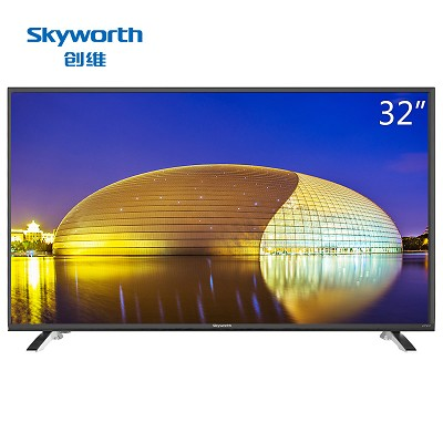 创维(Skyworth)32E361W 32英寸 窄边蓝光高清节能平板液晶电视 黑色
