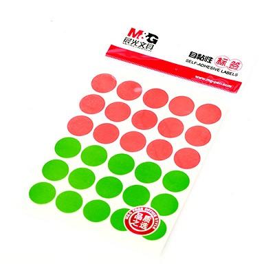 晨光(M&G)YT-18 自粘性标签 30枚*10 直径16mm 红绿色
