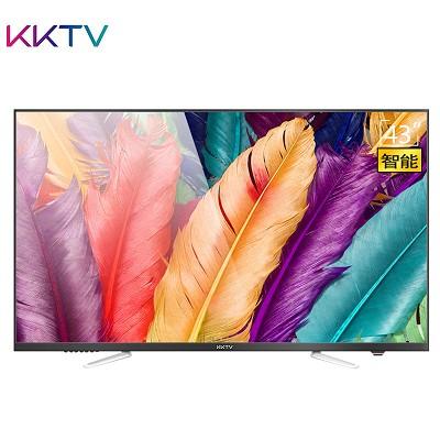 KKTV K43 电视机 43英寸10核智能硬屏液晶电视平板电视机