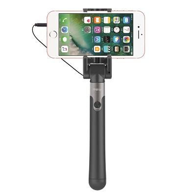 美逸(MEIYI)MY-S6线控自拍杆/自拍神器 适用苹果/三星/华为/魅族等 S6魅锐系列 察警灰