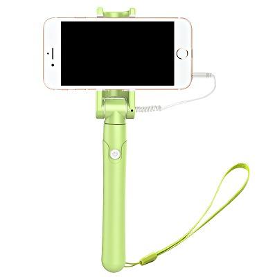 美逸(MEIYI)MY-S6自拍杆 自拍神器 适用于苹果/三星/华为/小米等 线控款 若草绿