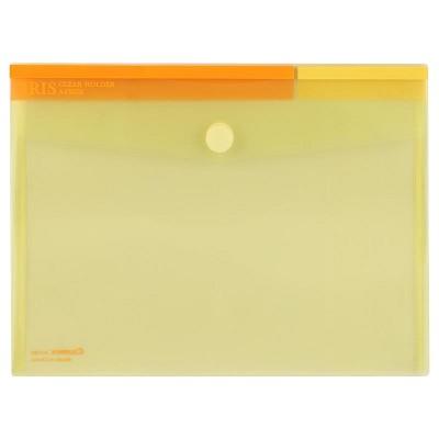 齐心(COMIX)A1769 文件袋粉彩粘扣袋 文件袋 资料袋 A4 黄色