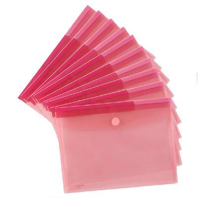 齐心(COMIX)A1769 文件袋粉彩粘扣袋 文件袋 资料袋 A4 红色