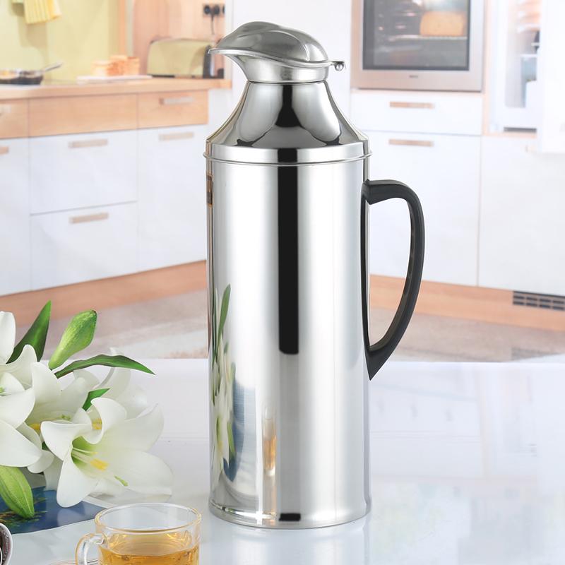 莲梅 不锈钢热水瓶 2l 鸭嘴保温瓶热水保暖壶 无缝保温瓶玻璃内胆图片