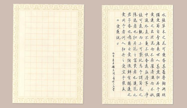 六品堂 硬笔书法比赛作品纸 钢笔纸练习纸 练字本练习