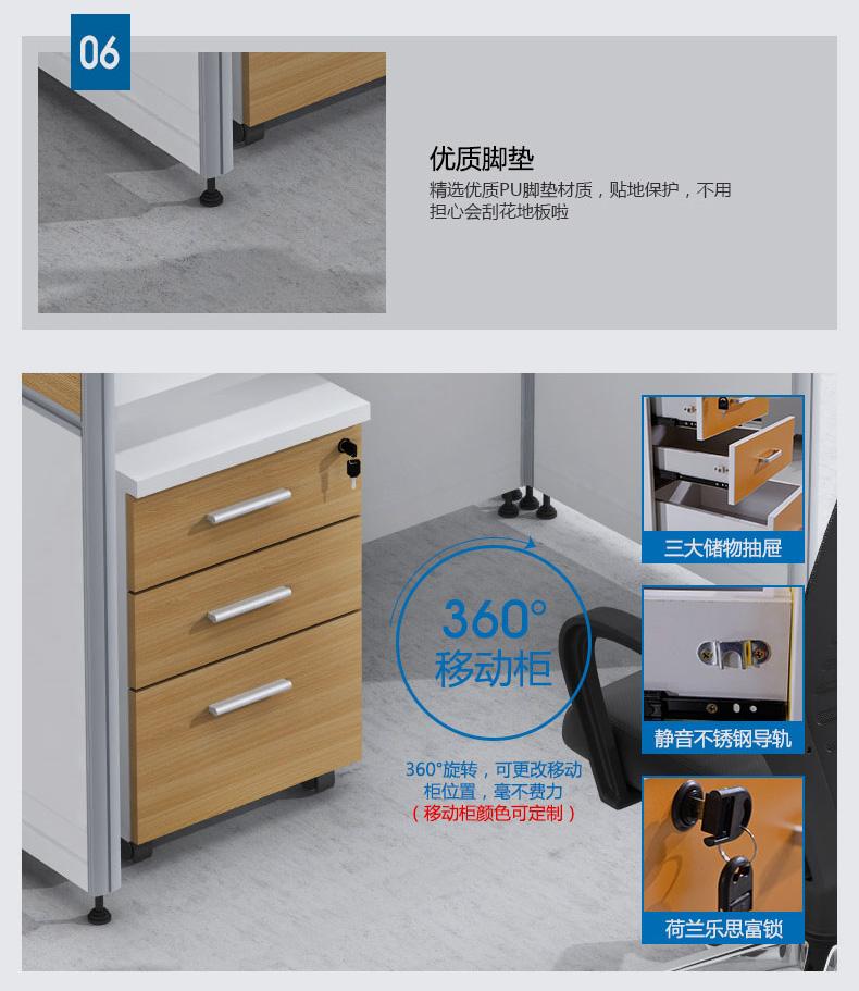 2,台面:1200x600x25mm厚e1级三聚氰胺免漆板;3,配置:活动柜,板式键盘
